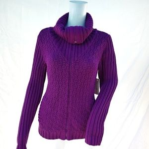 Jones New York Cardigan cable knit sweater Small